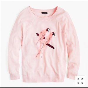J. Crew parrot sweater